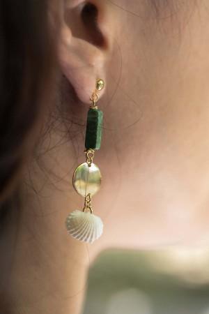 SHOW TIME - MARBLE - Seashell Earrings (1)