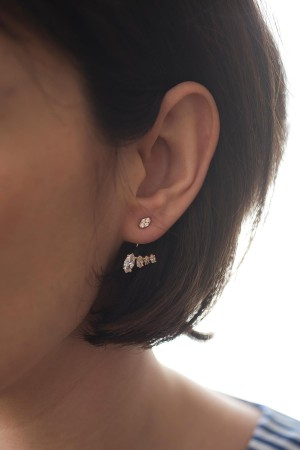 SHOW TIME - MARQUISE - CZ Earjacket Earring