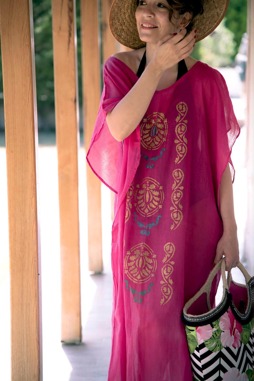 Medina Yazlik Elbise El Boyamasi Yazlik Elbise App
