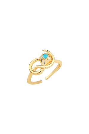 COMFORT ZONE - MEDUSA - Gold Snake Ring