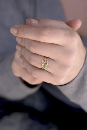 COMFORT ZONE - MEDUSA - Gold Snake Ring (1)