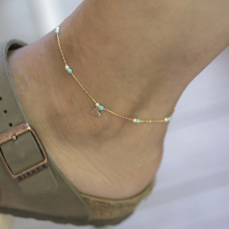 PETITE JEWELRY - MINI HEART - Dainty Anklet