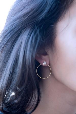 SHOW TIME - MINI HOOPS - Earjacket Earrings (1)