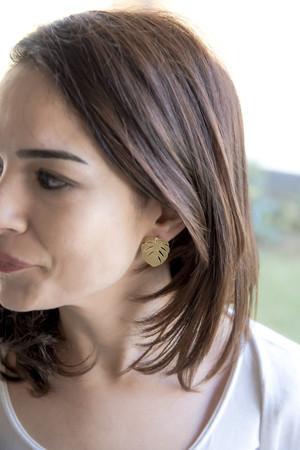 PLAYGROUND - MINI MONSTERA - Stud Earrings