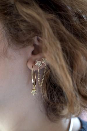 PLAYGROUND - MINI STAR - Hoop Earrings (1)