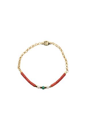 PLAYGROUND - MINI ALOHA - Coral Beaded Stretch Bracelet
