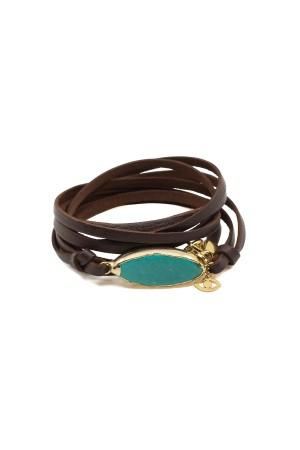 PLAYGROUND - MIRA - Leather Wrap Bracelet