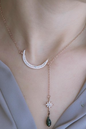 SHOW TIME - MOON AND STAR - Y Necklace (1)