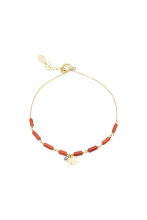 PLAYGROUND - MUD FLOWER - Coral Ankle Bracelet