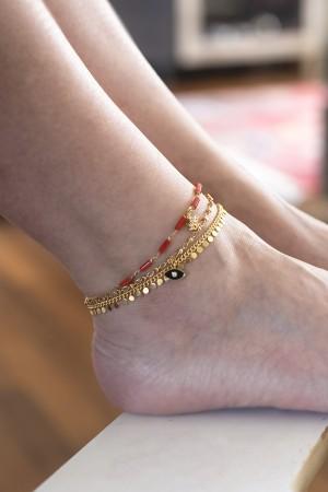 PLAYGROUND - MUD FLOWER - Coral Ankle Bracelet (1)