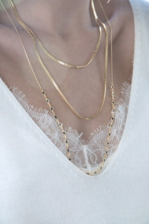 COMFORT ZONE - MULTI - Snake Chain Necklace (1)