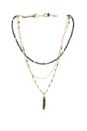 SHOW TIME - MULTILAYERED CRYSTAL - Beaded Layered Necklace