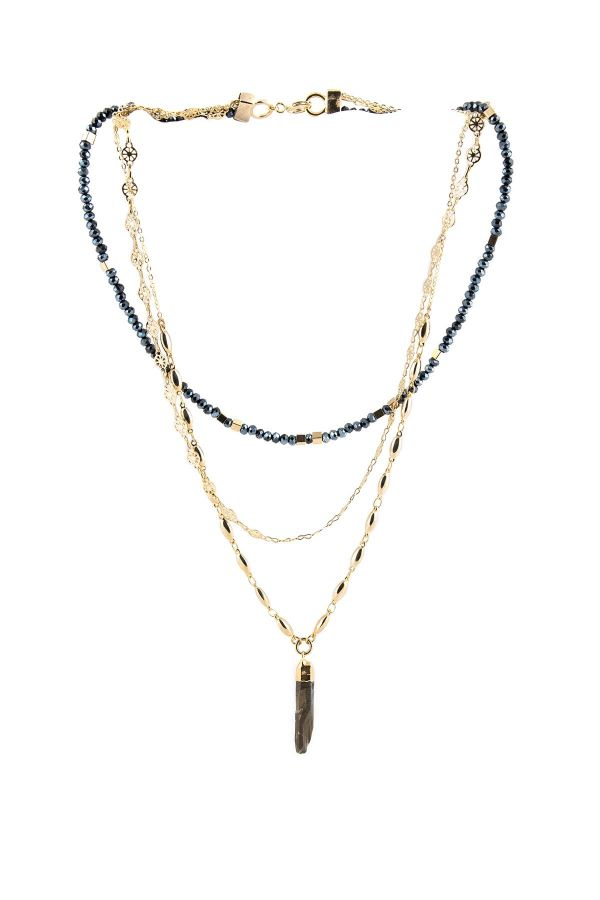 MULTILAYERED CRYSTAL - Beaded Layered Necklace