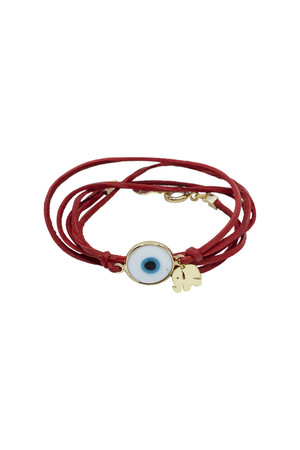 SHOW TIME - MURANO - Red Leather Bracelet