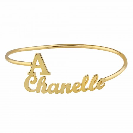 PETITE JEWELRY - NAME BRACELET - Name and Initial Bracelet