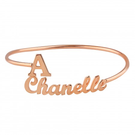 NAME BRACELET - Name and Initial Bracelet - Thumbnail