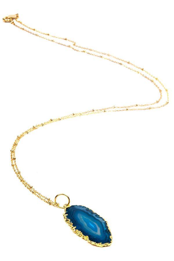 NATURAL BLUE - Agat Kolye