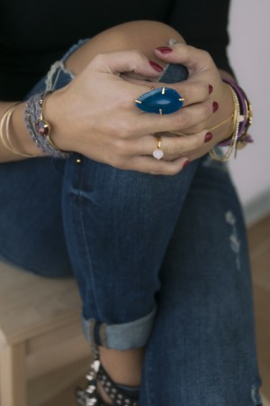 COMFORT ZONE - NATURAL BLUE - Slice Agate Ring (1)