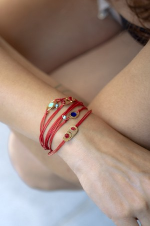 NAXOS - Evil Eye Wrap Bracelet - Thumbnail