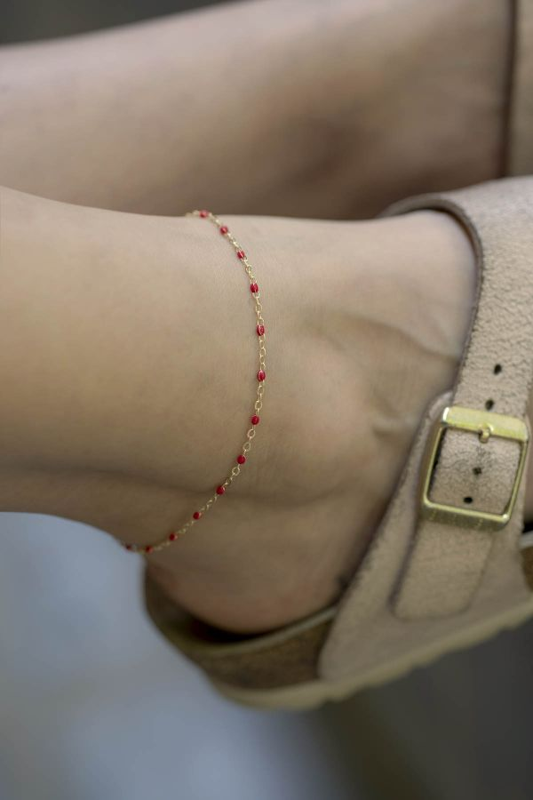 NELIPOT - Red - Anklet