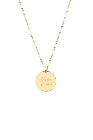 PETITE JEWELRY - NELLA SUE - Personalized Disc Pendant Necklace
