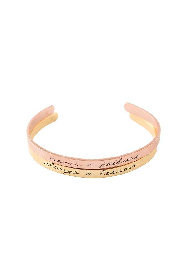 NEVER A FAILURE - Cuff Bracelet