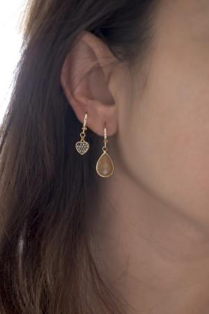 COMFORT ZONE - NUDE DROP - Huggie Earrings (1)
