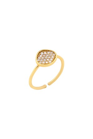 COMFORT ZONE - NUT - CZ Ring