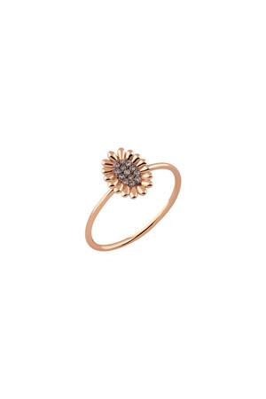 PETITE LUXE - ODELIA - 14K Flower Ring