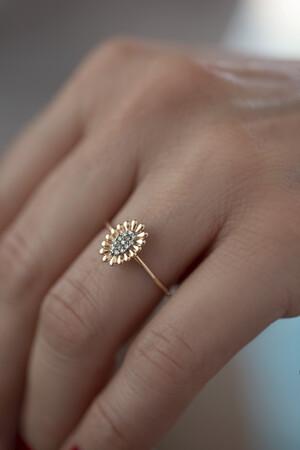 PETITE LUXE - ODELIA - 14K Flower Ring (1)