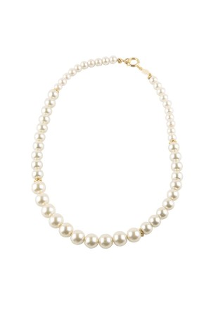 SHOW TIME - OFF WHITE - Faux Pearl Necklace