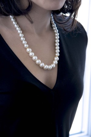 SHOW TIME - OFF WHITE - Faux Pearl Necklace (1)