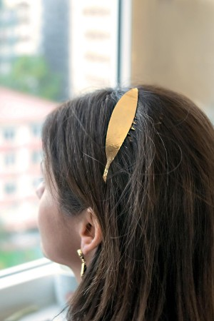 BAZAAR - OLIVE LEAF - Haircomb (1)