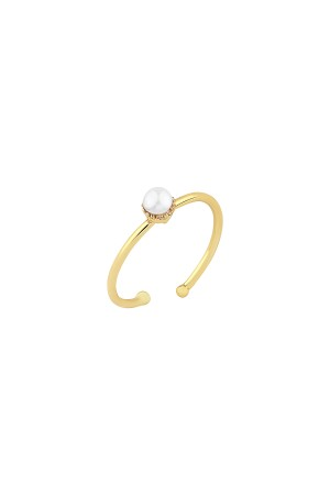 COMFORT ZONE - ONE PEARL - Minimalistic Ring