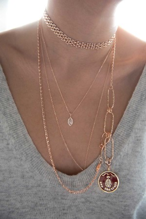 PETIT CHARM - ORIGIN - Asymmetrical Chain Necklace