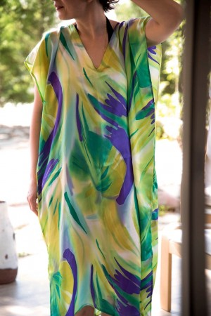 HAPPY SEASONS - PAINT - Silk Summer Dress