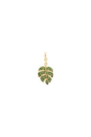 PETIT CHARM - PALM - Green CZ Leaf Charm