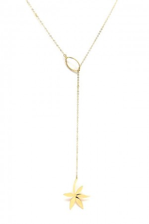 COMFORT ZONE - PALM - Lariat Necklace