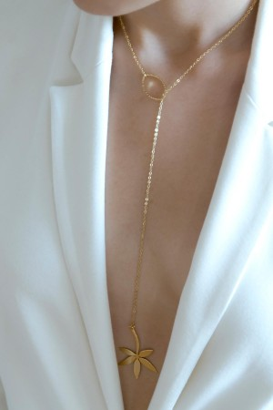 COMFORT ZONE - PALM - Lariat Necklace (1)