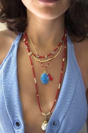 PLAYGROUND - PAROS - Turquoise Necklace (1)
