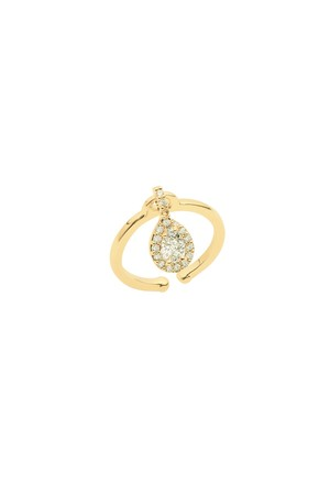SHOW TIME - PEAR CHARM - CZ Ring