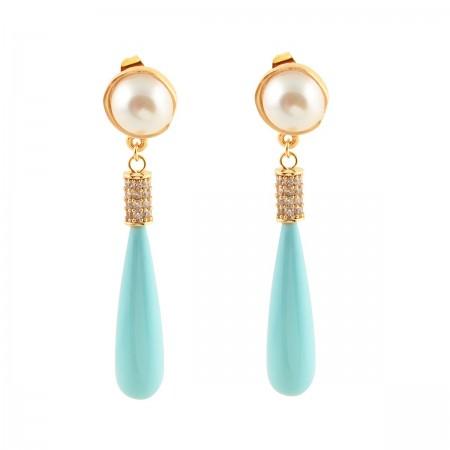 SHOW TIME - PEARL DROP - Dangle Earrings