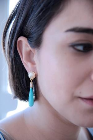 SHOW TIME - PEARL DROP - Dangle Earrings (1)