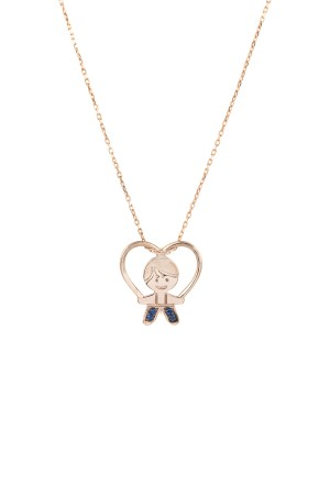PETITE FAMILY - PEPE FUNSHINE - Blue Sapphire Necklace for Boy Mom (1)