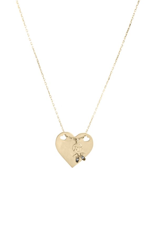 PEPE HEART - Kalp Madalyon Kolye