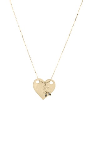 PETITE FAMILY - PEPE HEART - Personalized Heart Shaped Necklace
