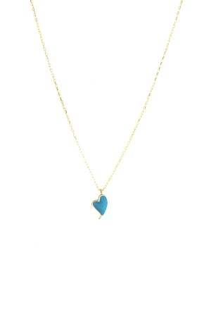 PETITE FAMILY - PEPE HEARTBEAT - Blue Pendant Necklace