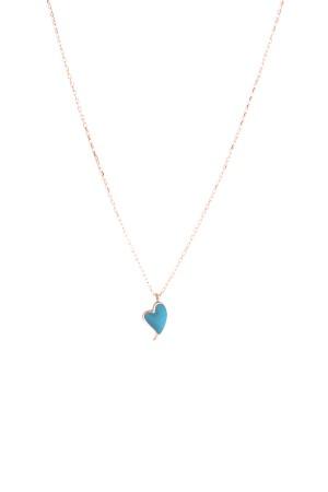 PETITE FAMILY - PEPE HEARTBEAT - Blue Pendant Necklace (1)