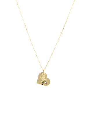 PETITE FAMILY - PEPE MINI HEART - Personalized Charm Necklace