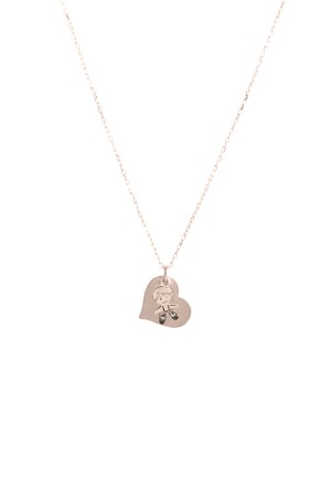 PETITE FAMILY - PEPE MINI HEART - Personalized Charm Necklace (1)